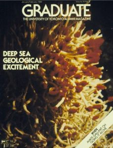 Image of Tube Worms on Cover of Graduate Magazine, 1984